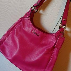 Coach Ashley Leather Hobo handbag fuchsia LIKE NEW